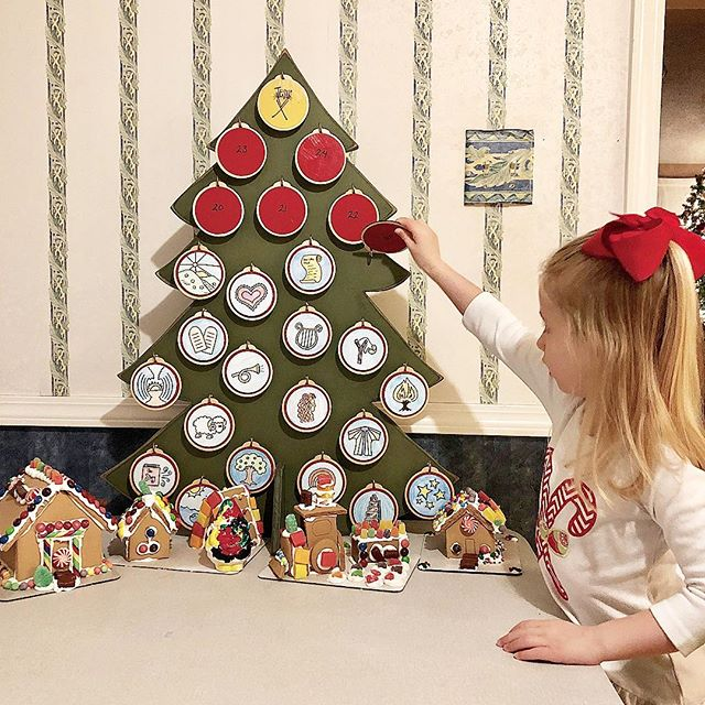 One of our goals this year was to really impress on Emma that We celebrate Christmas because of Jesus. We have so enjoyed our new advent set up this year! We used an old Jesse tree we had to make ornaments that go along with our Jesus Storybook Bible advent reading plan! This set up has been very engaging for my 4 year old and has kept us on track...we have kept up with our readings so much better than in the past! And the best part...every story points to the coming birth of Jesus and our need for him!