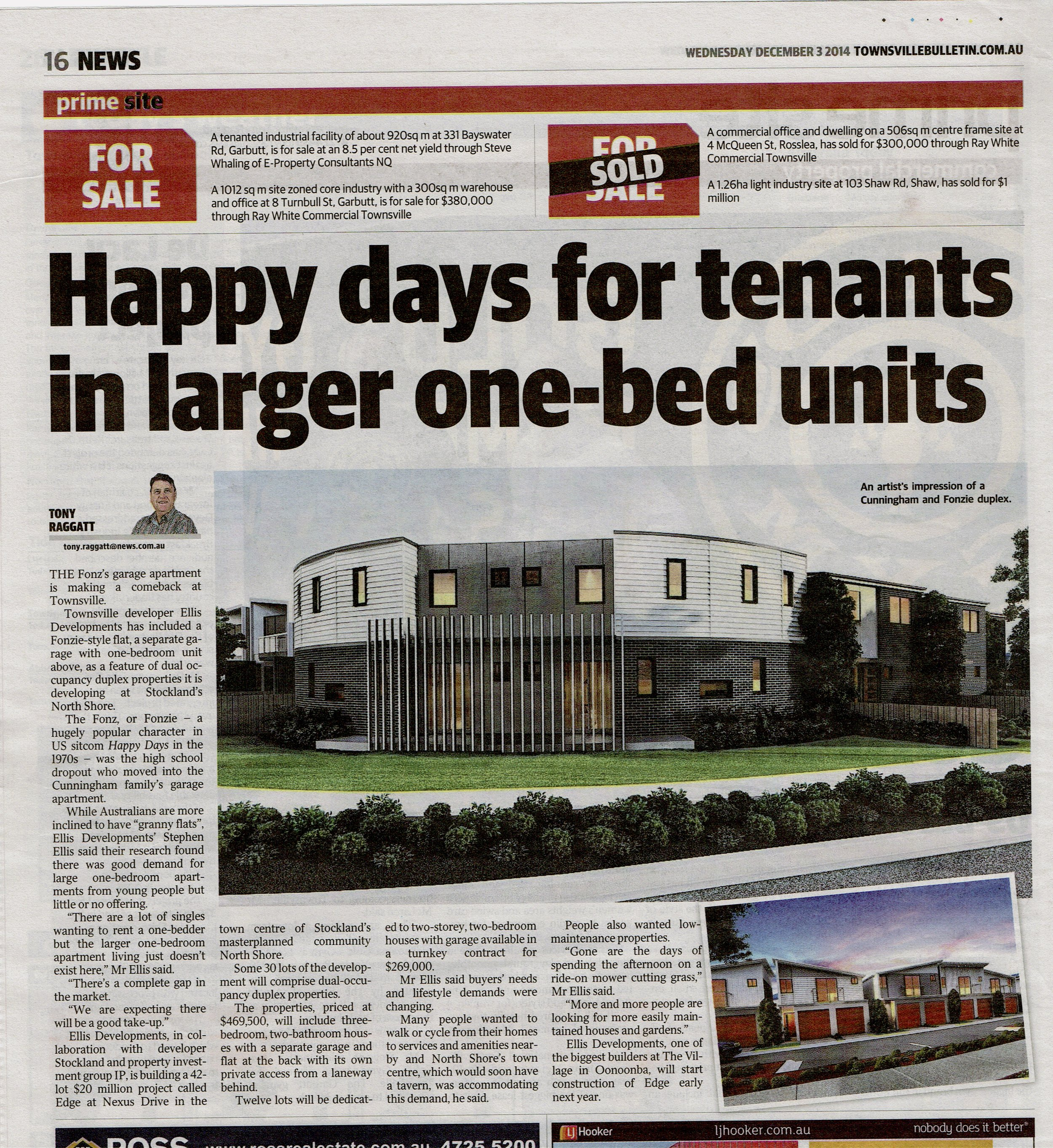 TownsvilleBulliten_Happy-days-for-tenants-in-larger-one-bed-units_press_pamellisinternational_ellisdevelopments