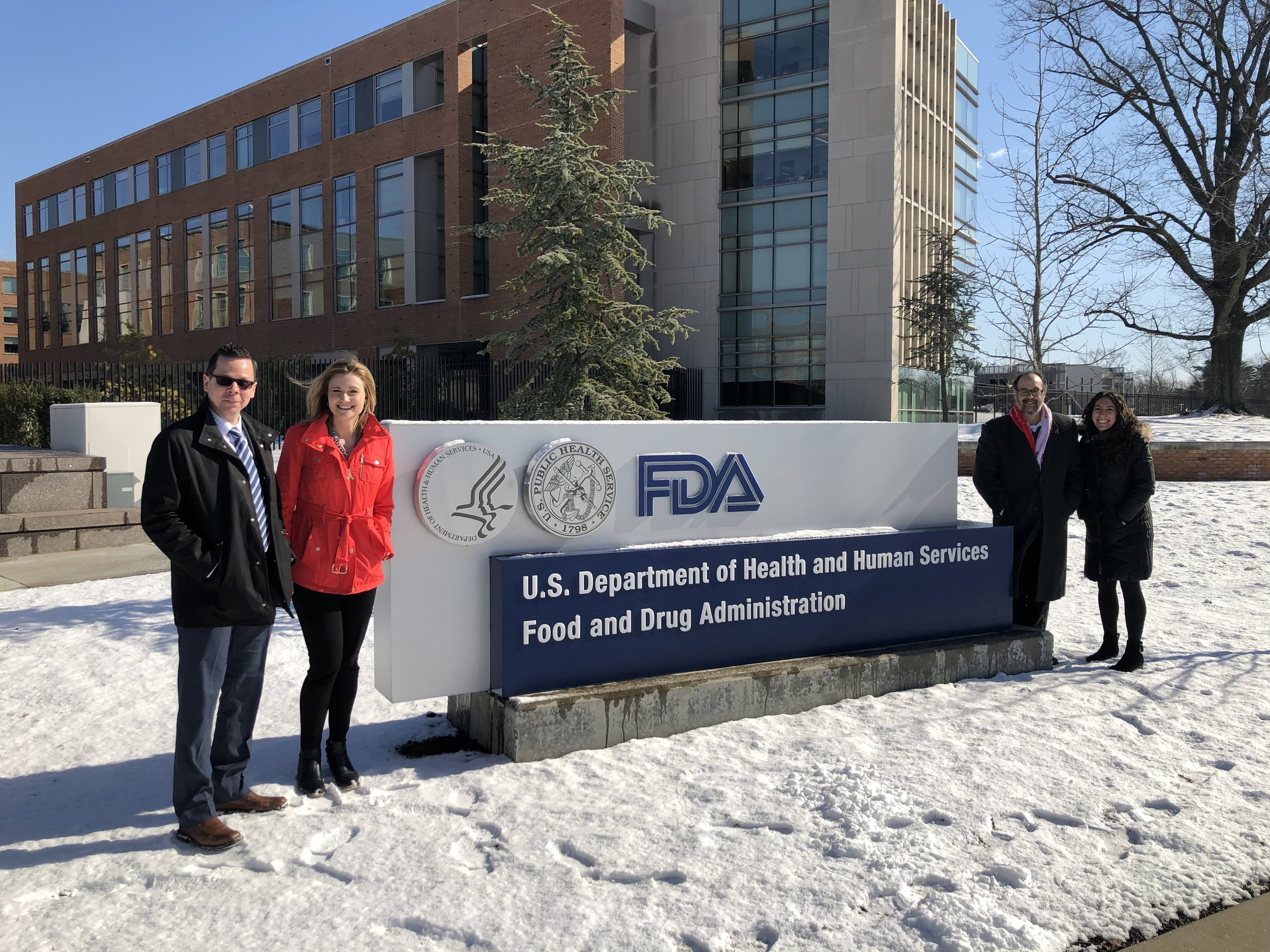 Shawn, Tara, Dr. Bober and Dr. Carroll at the FDA, Jan 30, 2019 to discuss RCDP and PPI-1040 nonclinical development plan.
