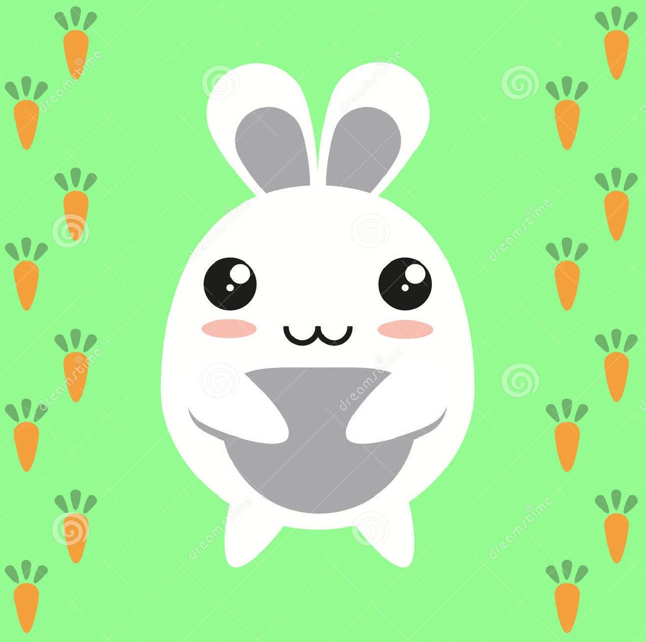 bunny-cartoon-character-rabbit-japanese-carrots-34519381