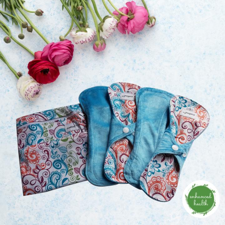 Reusable cloth pads from Enhanced Health NZ