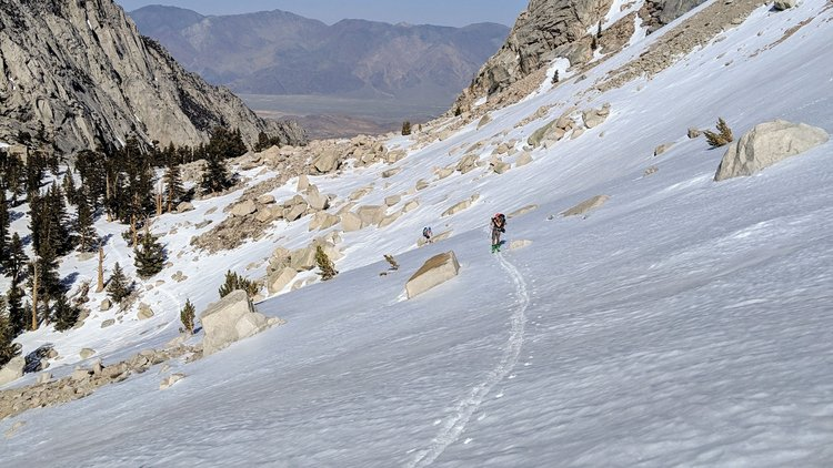 The ascent from Lower to Upper Boy Scout Lake
