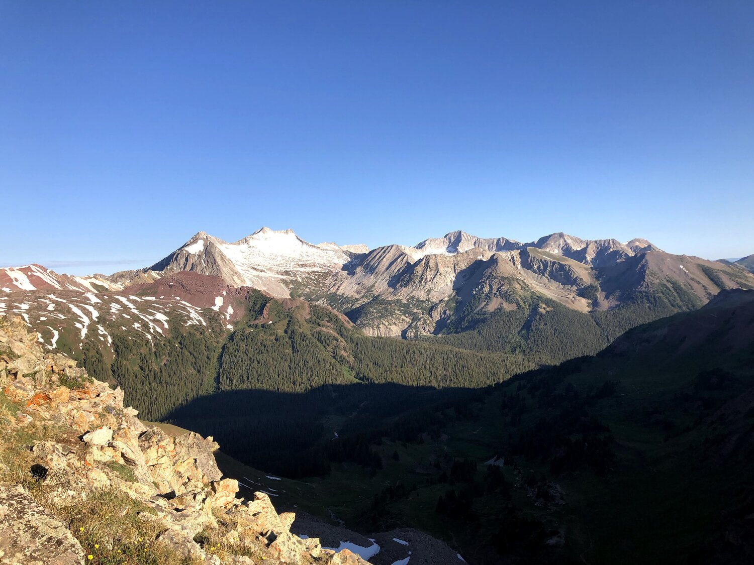 The view from Buckskin Pass, at 12,462 ft.
