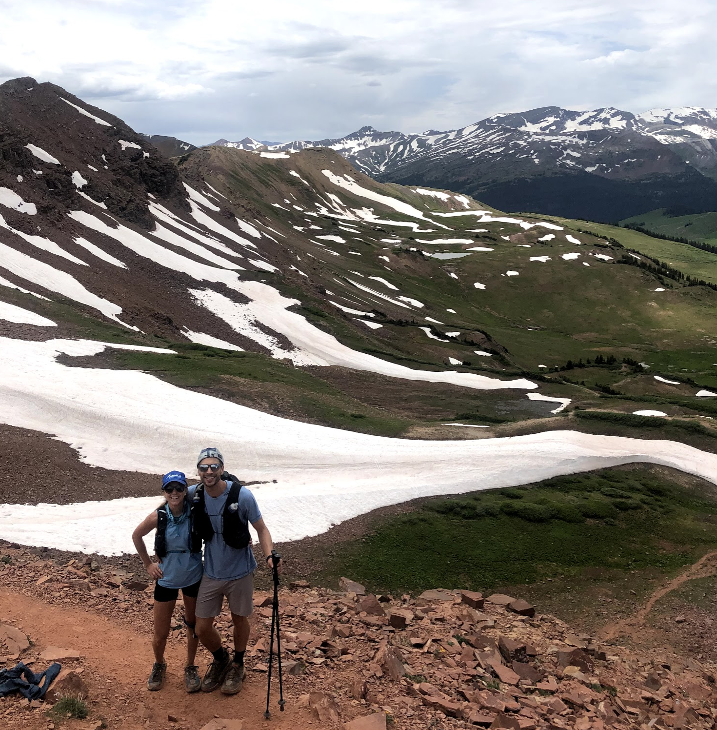 From the top of West Maroon Pass.