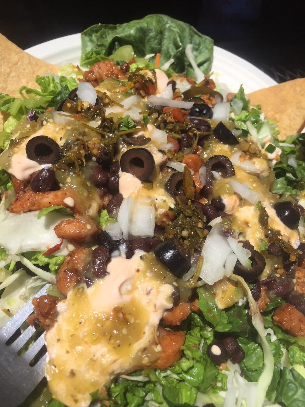 Chipolte Chicken Salad with chipolte sour cream