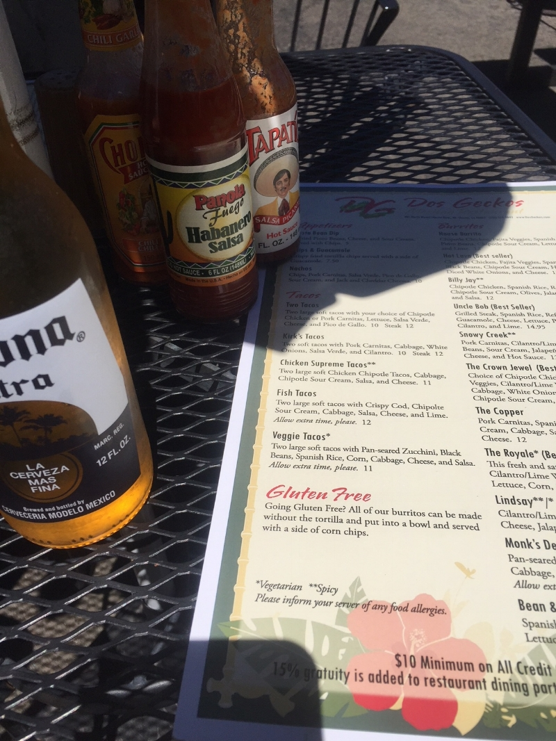 Enjoy a cold beer and fresh California Style Mexican food siting outside on Mount Shasta Blvd. Life is good!!