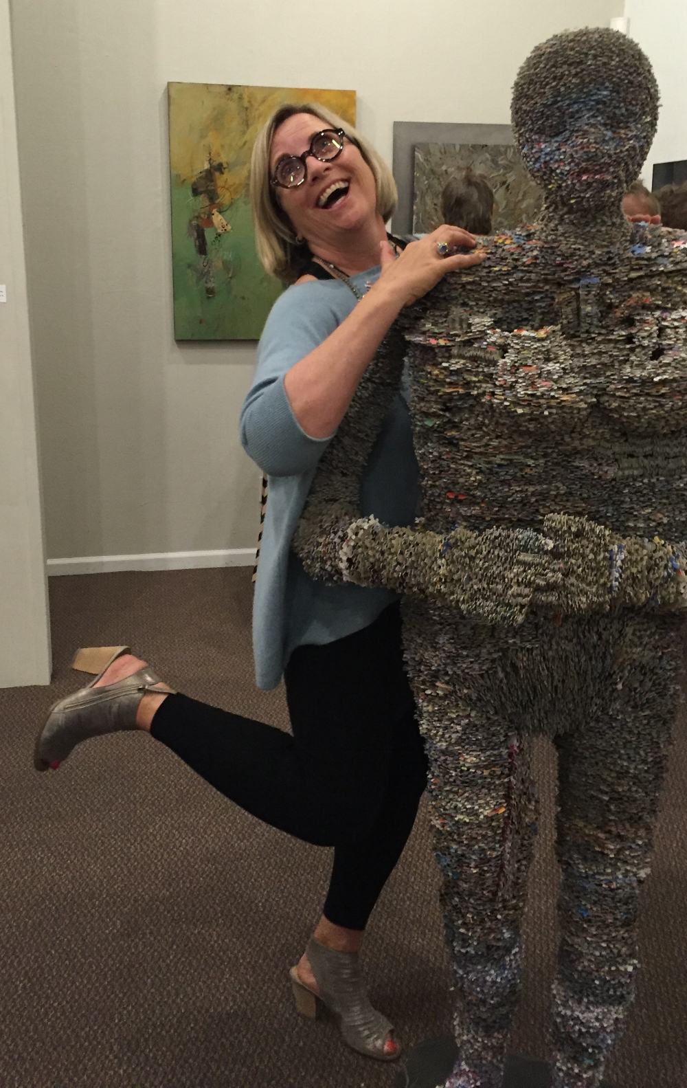 Cami with  Picking up the Pieces  at one of my art show openings. We are always having fun!