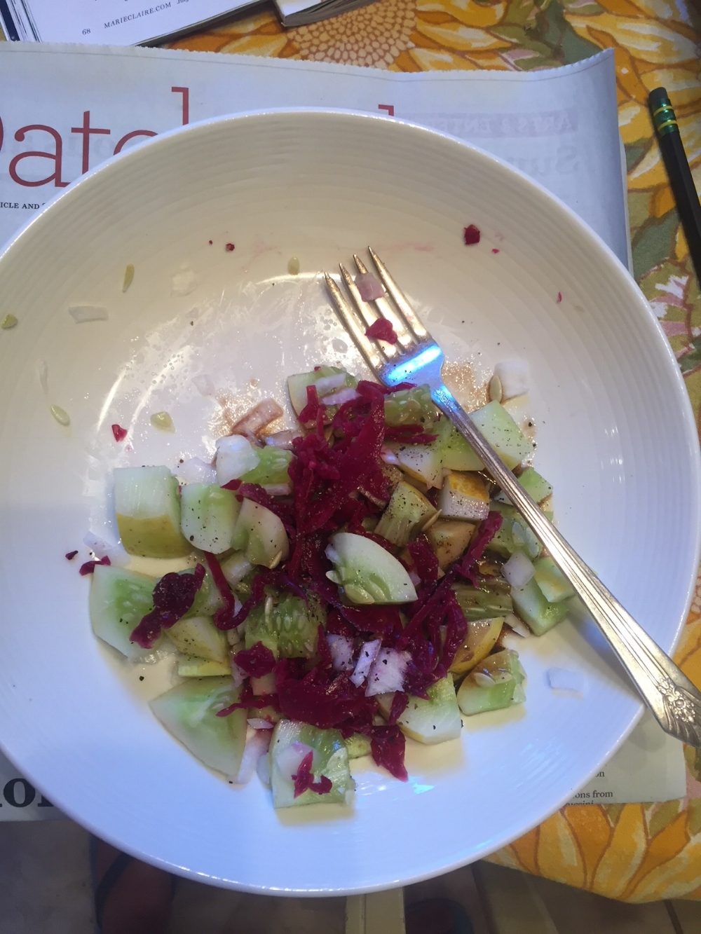 Lemon Cucumber Salad with Onions and Red Cabbage Sauerkraut from  Salt and Savour ...colorful! .