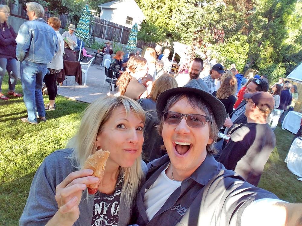 Brenda and Nikolas at their 2018 Sizzlin 'summer Backyard party!