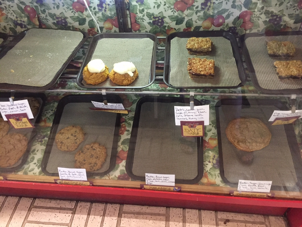 The cookies and sweet treats sell out early. Don't forget they have cheesecake!