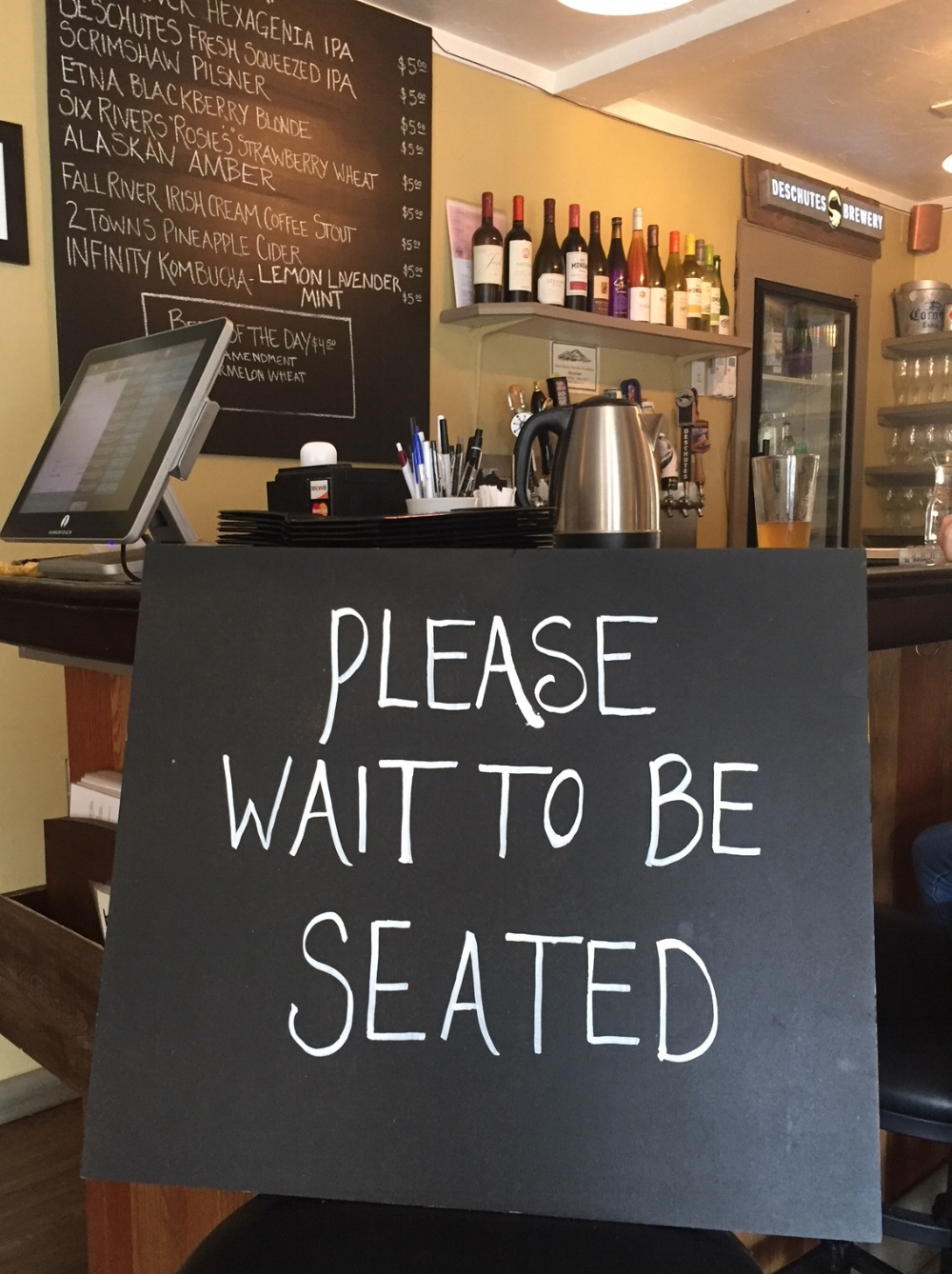 Wait to be Seated and check out what's on tap.