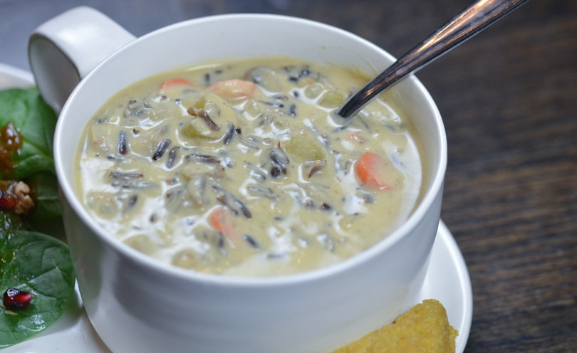 Comfort Food -  Creamy Vegan Wild Rice Soup  from Life is No Yoke
