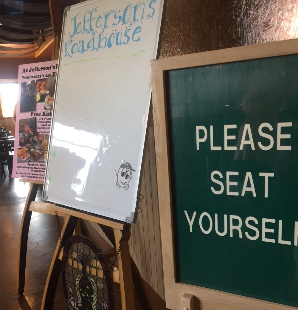 Please seat yourself at Jefferson's RoadHouse.
