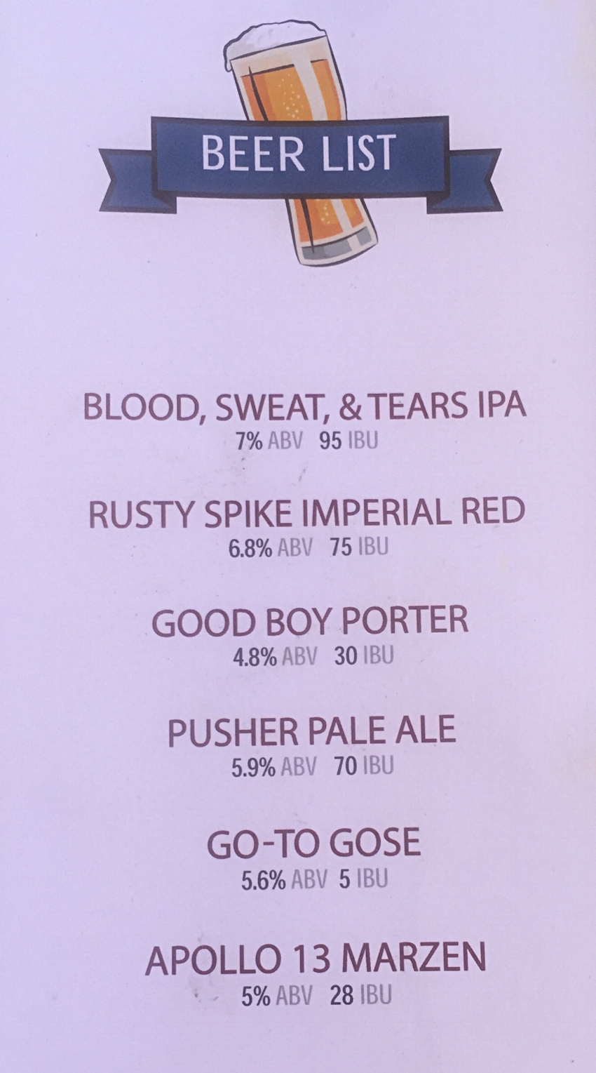 The Beer menu changes with the season. There is always something new to try.