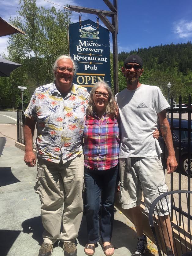 David Clarno, Lauri Sturdivant and Aaron Greener at Dunsmuir Brewery Works,