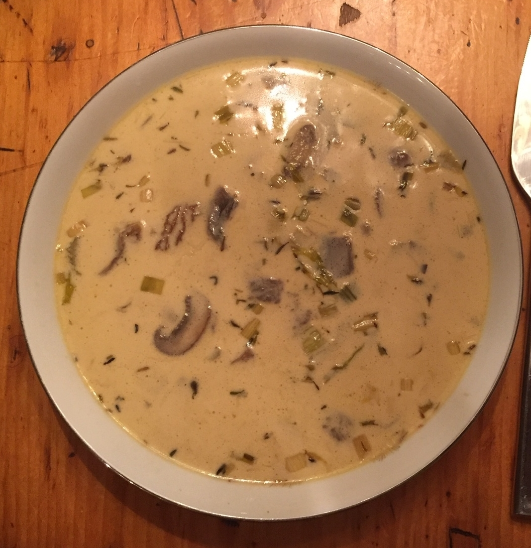 Beautiful mushroom soup!