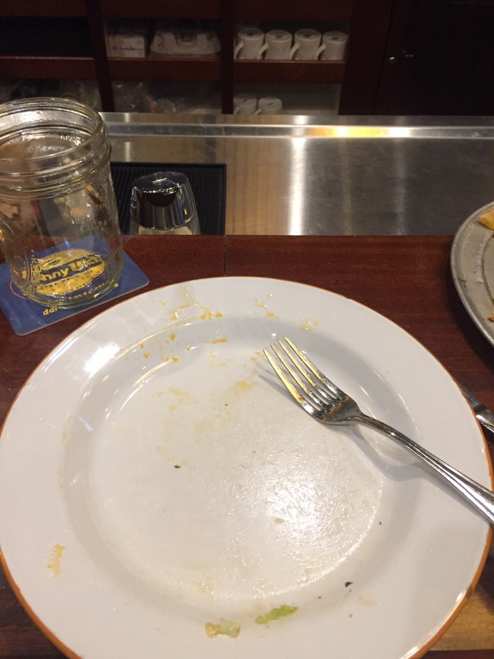I'm a member of the clean plate club!