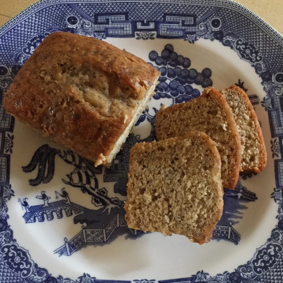 Banana Bread made in a food processor  - moist and easy!
