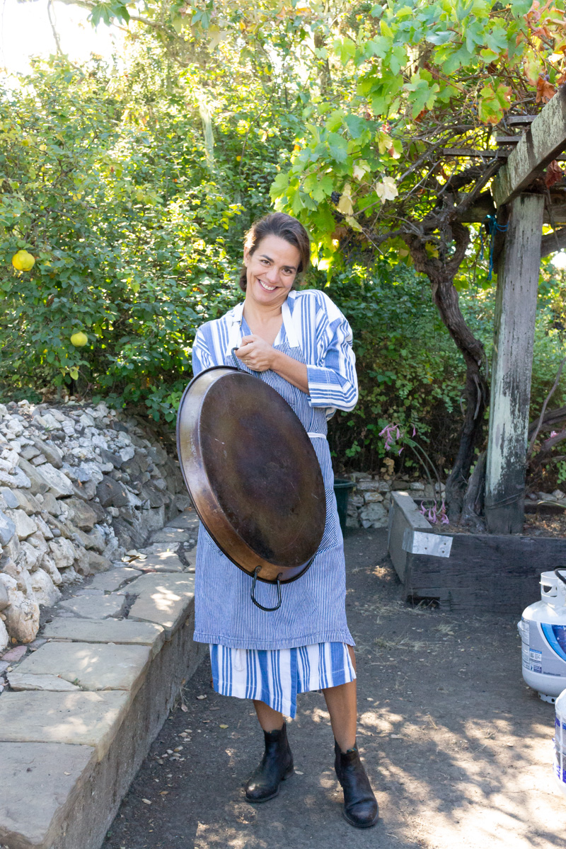 carmen and paella pan-1.jpg