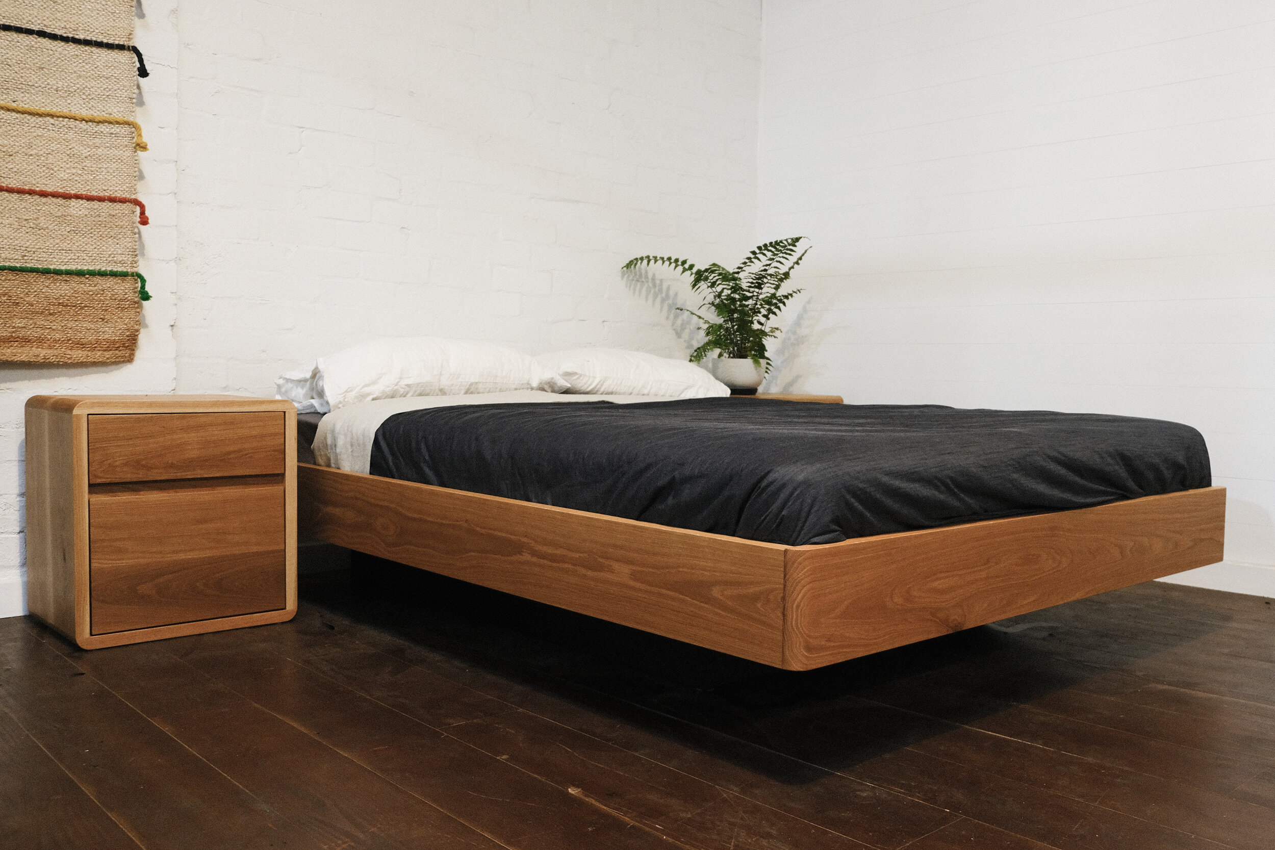 Floating Olson Bed american white oak