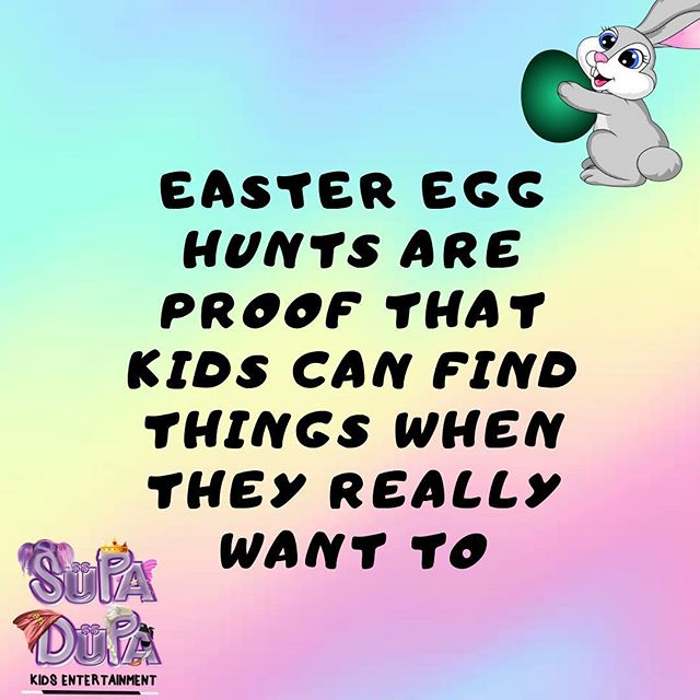 HAPPY EASTER to all our SUPA DUPA followers! 💞🥳 To the kids, we hope the Easter Bunny came and gave you lots of goodies to share around!  To the parents, time for a nap after playing Easter Bunny last night 😉🤩🥳 #EasterHunt 🐣