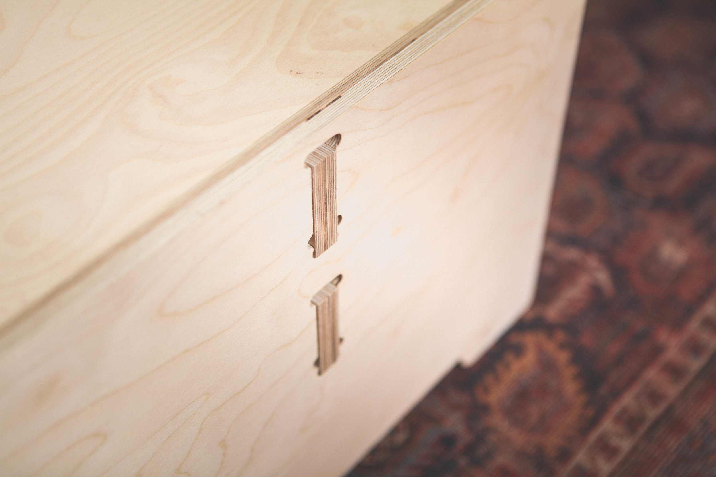 Nomad london coffee table detail plywood