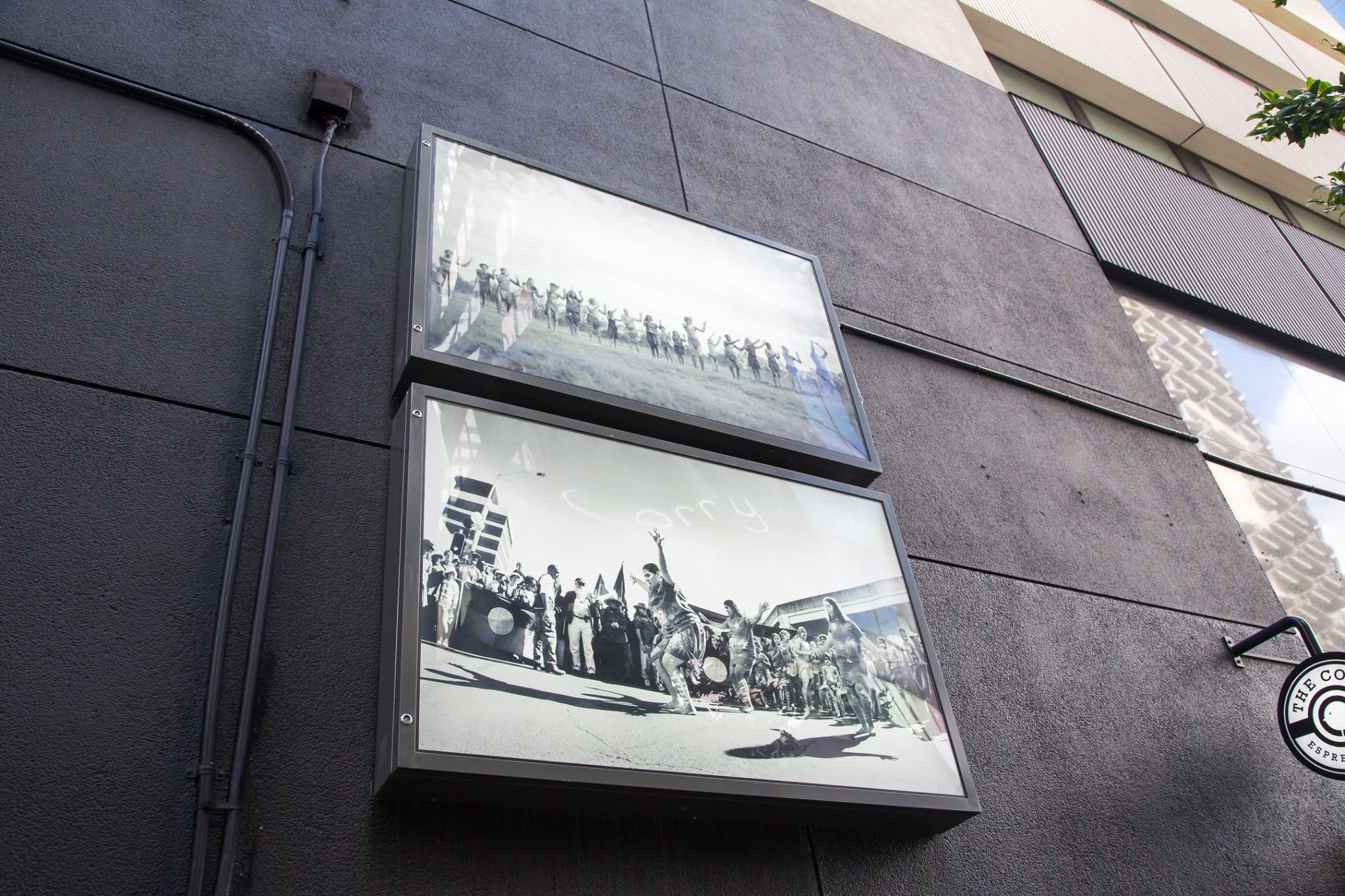 Jo-Anne Driessens -  Sorry Day Series  (2010). Installed at Eagle Lane. Maiwar 2017. Image courtesy of Brisbane City Council.