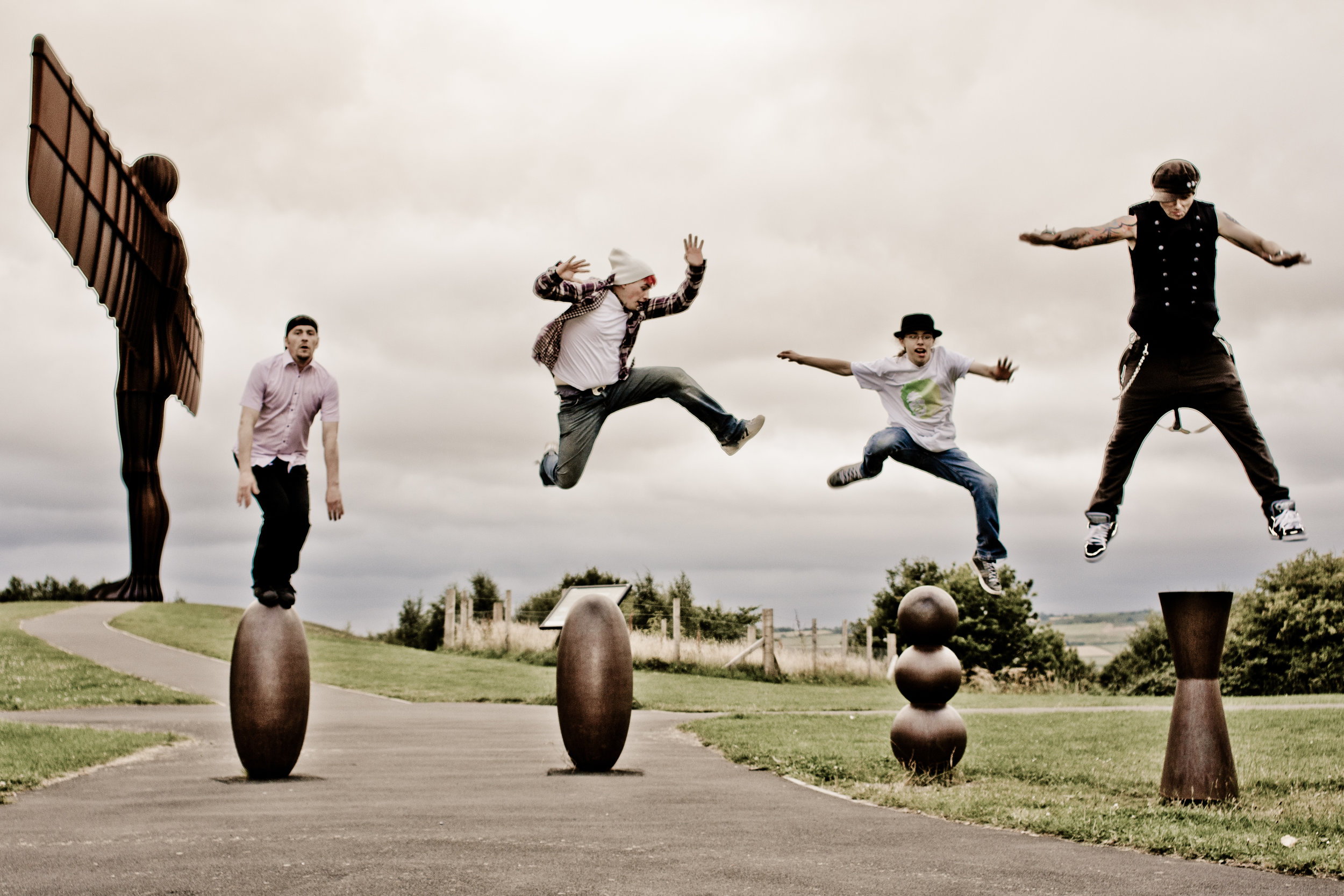 Reet Hot! - The Uk's greatest Red Hot Chili Peppers cover band… The REET Hot Chili Peppers. Promotional photography beside the incredible North East landmark, the Angel of the North,