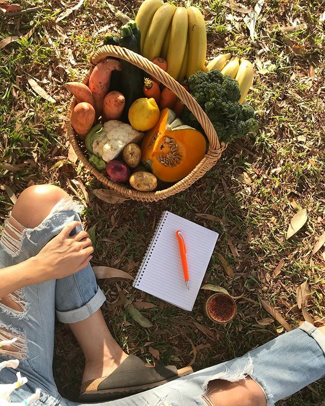 🍌🥦🍠Weekend Rituals ☕️🥕🍋 . . . . . #kawanafarmersmarket #allorganic #gettoknowyourfarmer #organicproduce