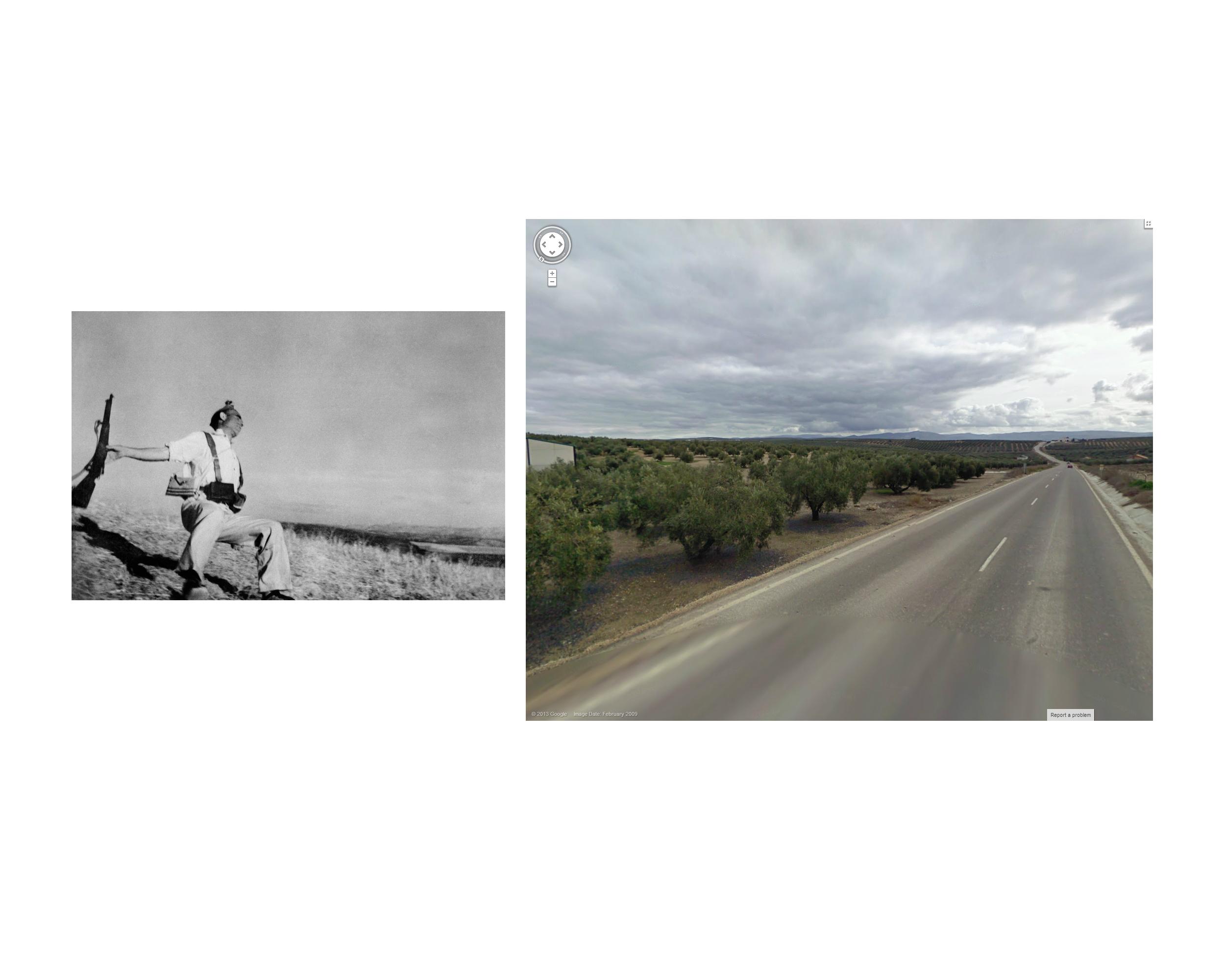 Robert Capa, Espejo, Spain 1936