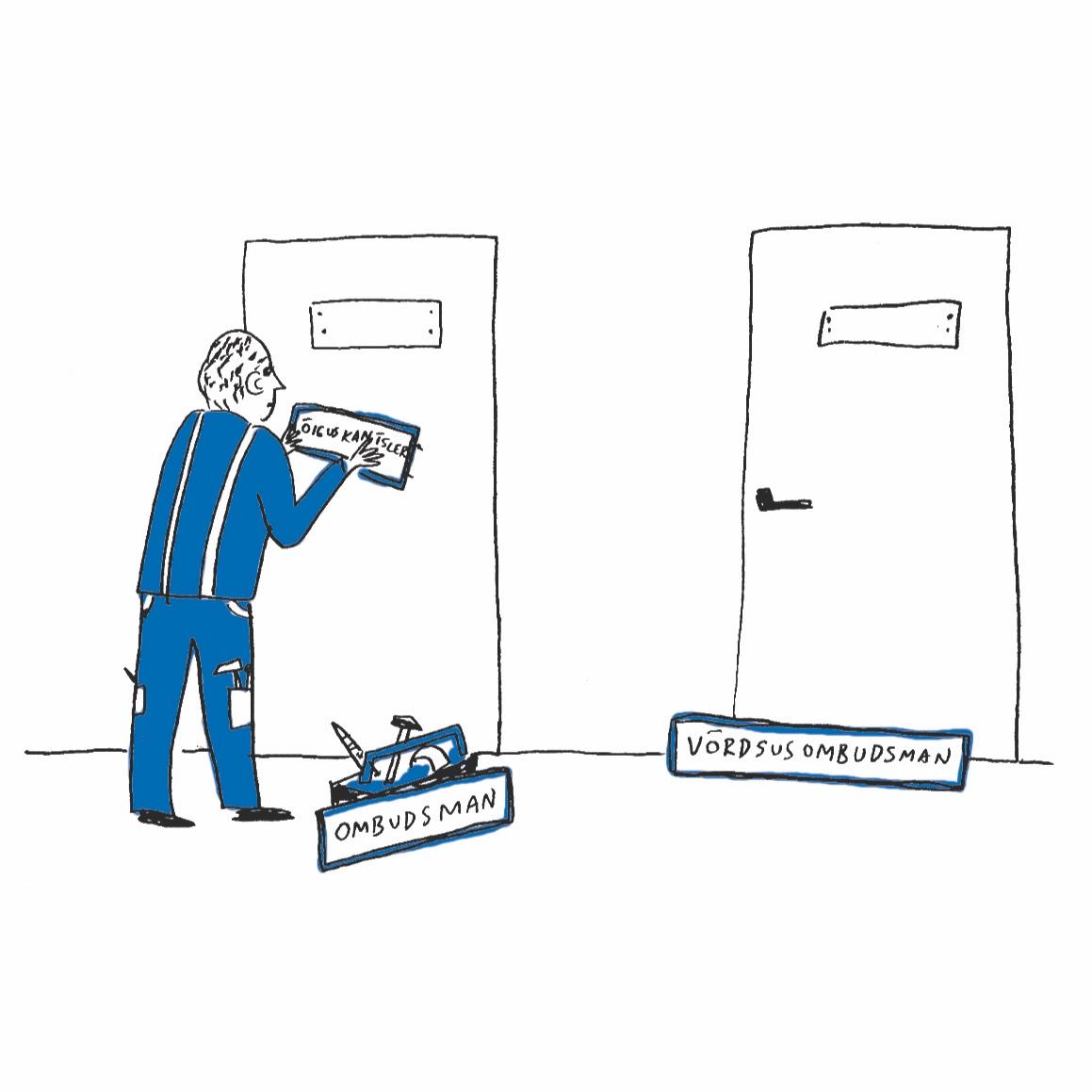 16.12   (illustratsioon: AW Stuff)   Kujundada õiguskantsleri ametkond ümber klassikaliseks ombudsmani ametkonnaks ja teha selle muudatuse elluviimiseks vajalikud muudatused Põhiseaduses ja õiguskantsleri seaduses.  Tänases õiguslikus olustikus puudub vajadus abstraktseks normikontrolliks, mida teostab õiguskantsleri ametkond. Kõige olulisemate õigusaktide puhul peab seda tegema president.
