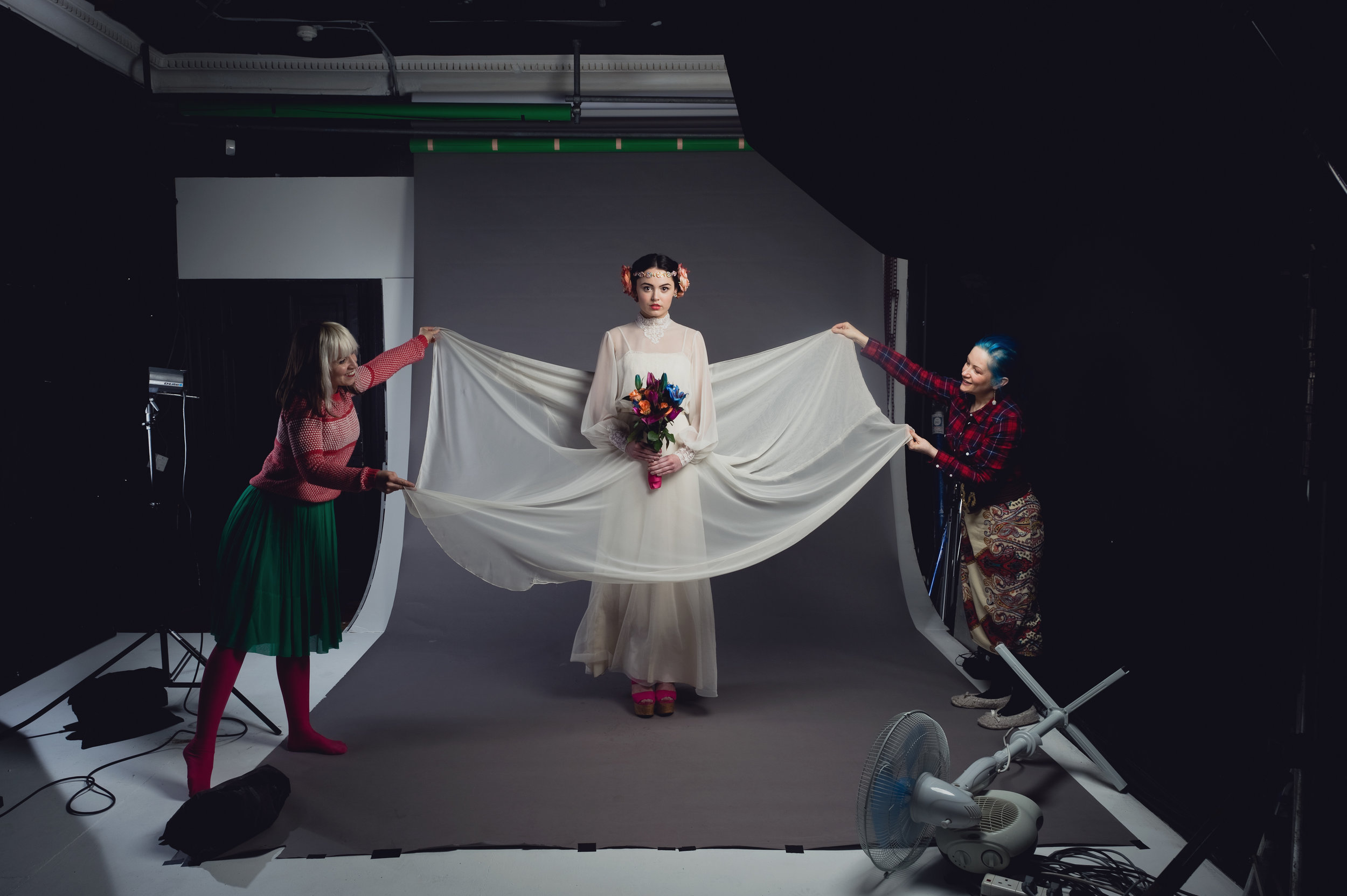 Behind the scenes image by White Tea Photography
