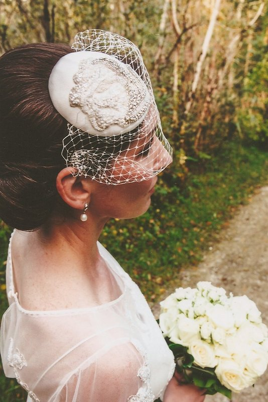 Dirty Fabulous Real Bridal headpiece