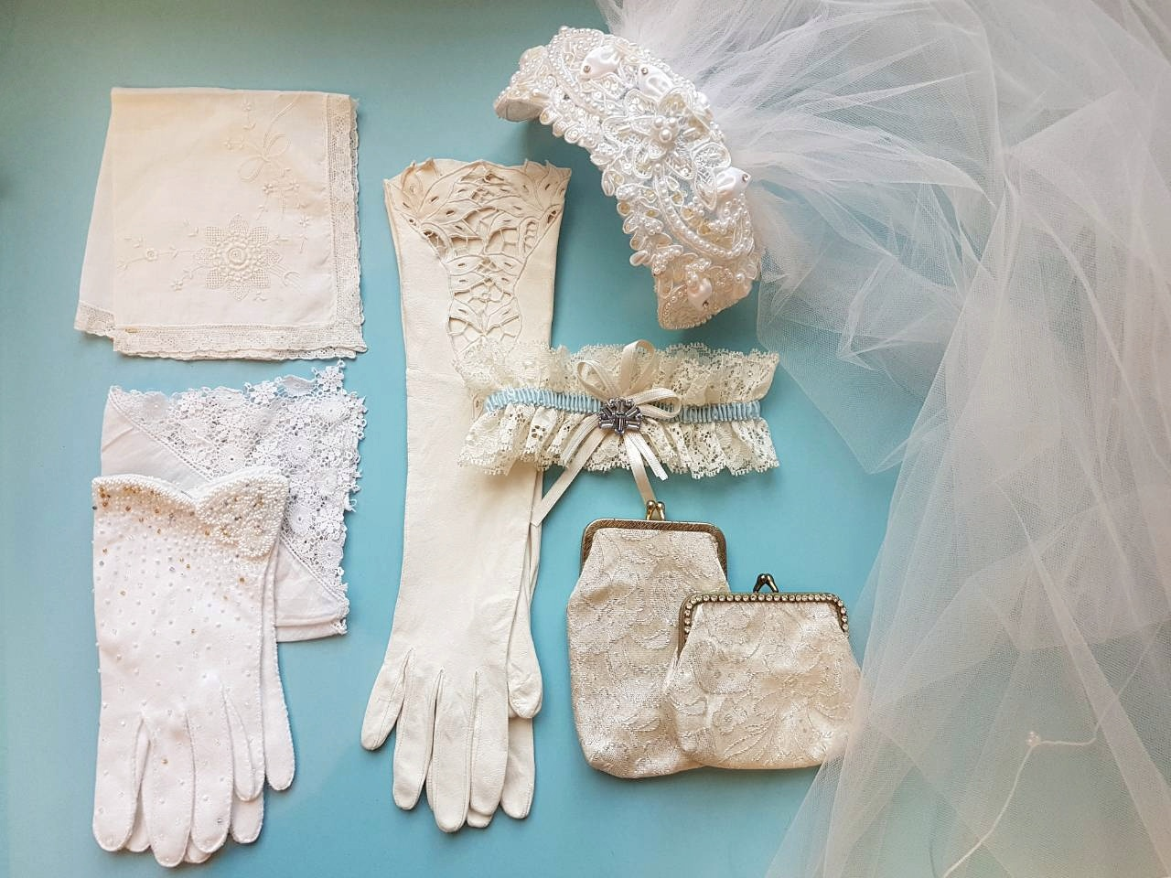 Vintage Keepsakes   A little treasure you can wear and keep as a reminder makes a wonderful gift for any bride. Think vintage garters, Art Deco coin purses and delicate lace handkerchiefs.