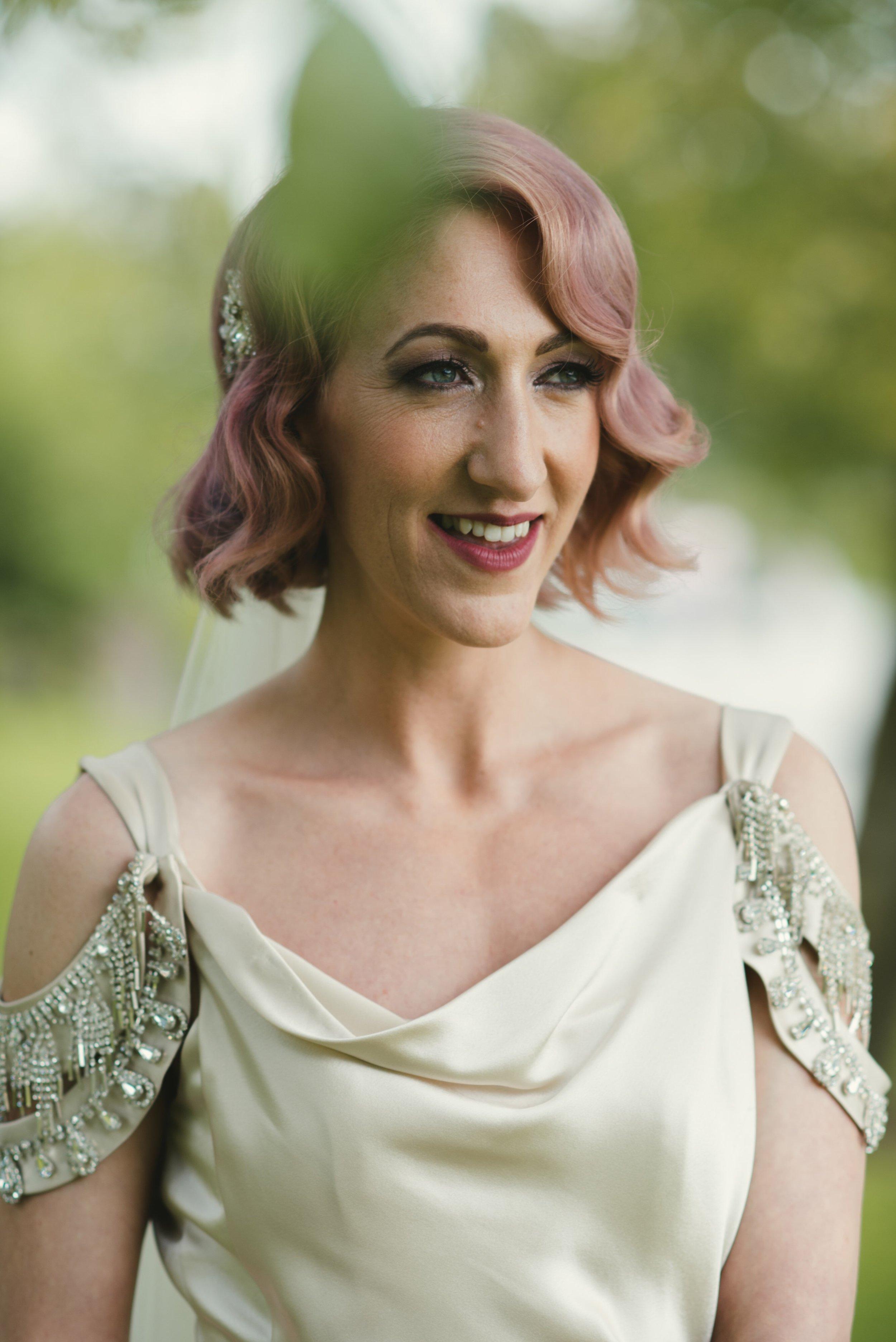 alternative bride pink hair 1930s style.jpg