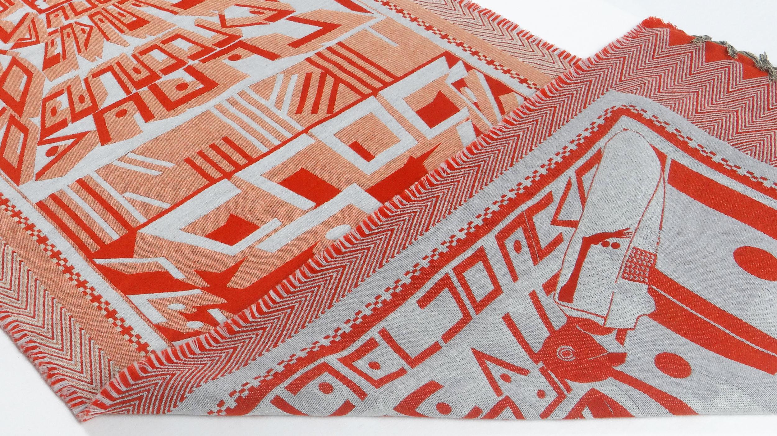 D/P/H Blanket - Concrete Henna