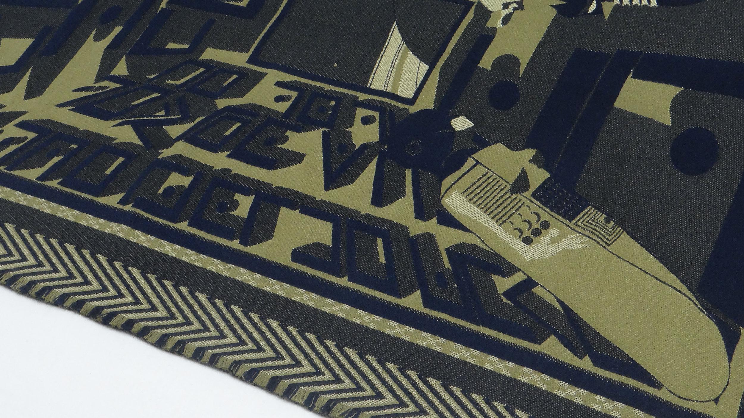D/P/H Blanket - Midnight Cactus