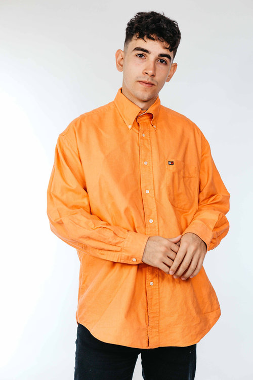 a5b69b899 Orange Tommy Hilfiger Cotton Shirt