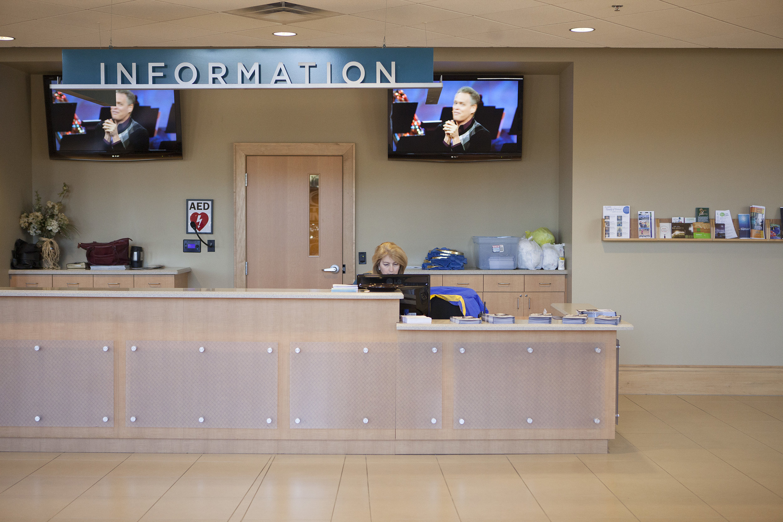 Information Desk - Stop by any of our Information Desks around campus to learn more about GFBC. Our knowledegable staff will be happy to assist you during your visit.