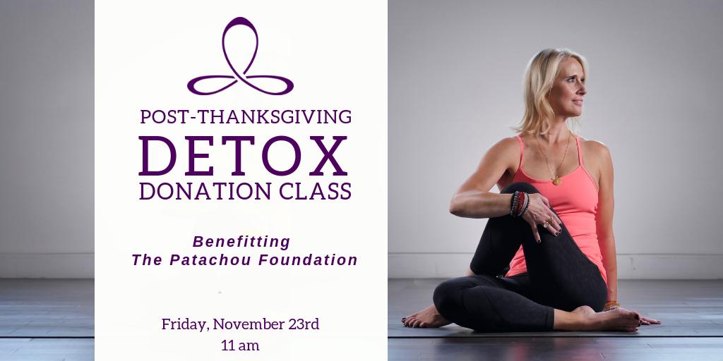 Post Thanksgiving Detox Donation Class Kompose Yoga