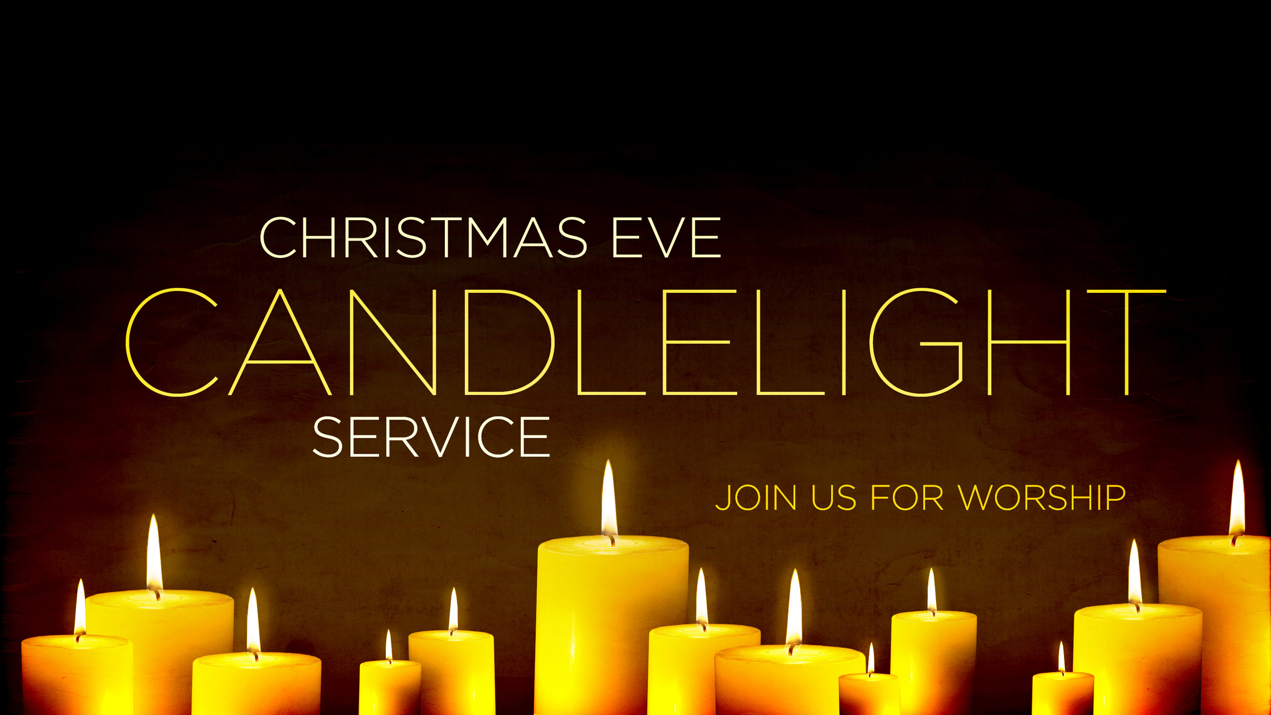An evening of Christmas worship - Carol singing, a kid's program, special music, a pastoral contemplation and a time of fellowship after the service.