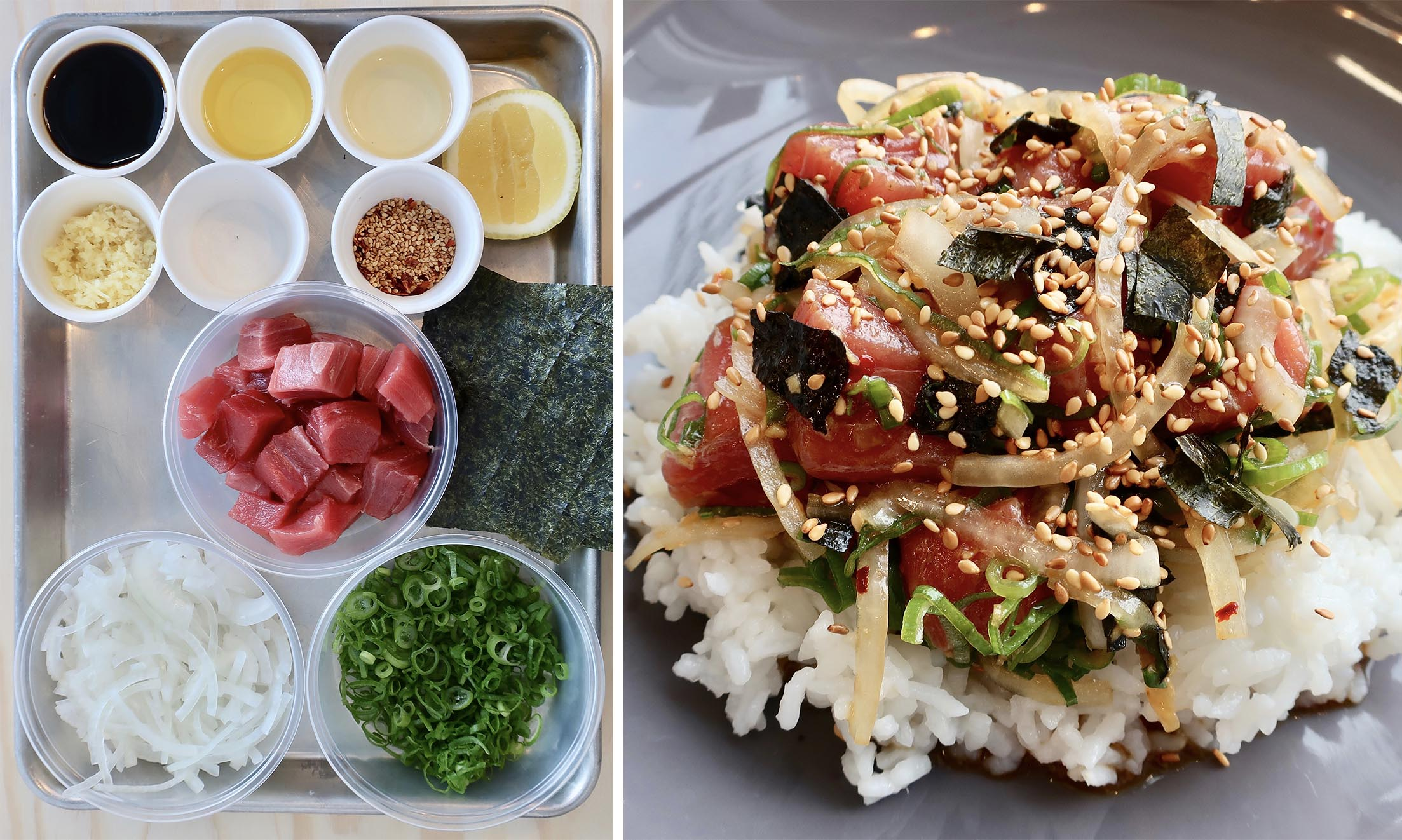 simple poke bowl -