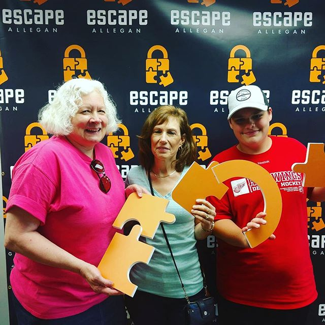 "Congratulations to team ""The Loveshack Trio"" for successfully escaping our 1920s Speakeasy!  Do you think you can beat their time?  Come on in and try your bests.  #escapeallegan #speakeasy #speakeasybar #puzzle #fun #allegan #escapees"