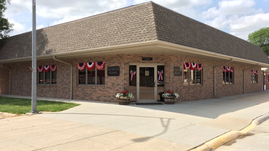 Our new office building was built in 2010.  We're located in downtown Osmond, just three blocks north of Highway 20.