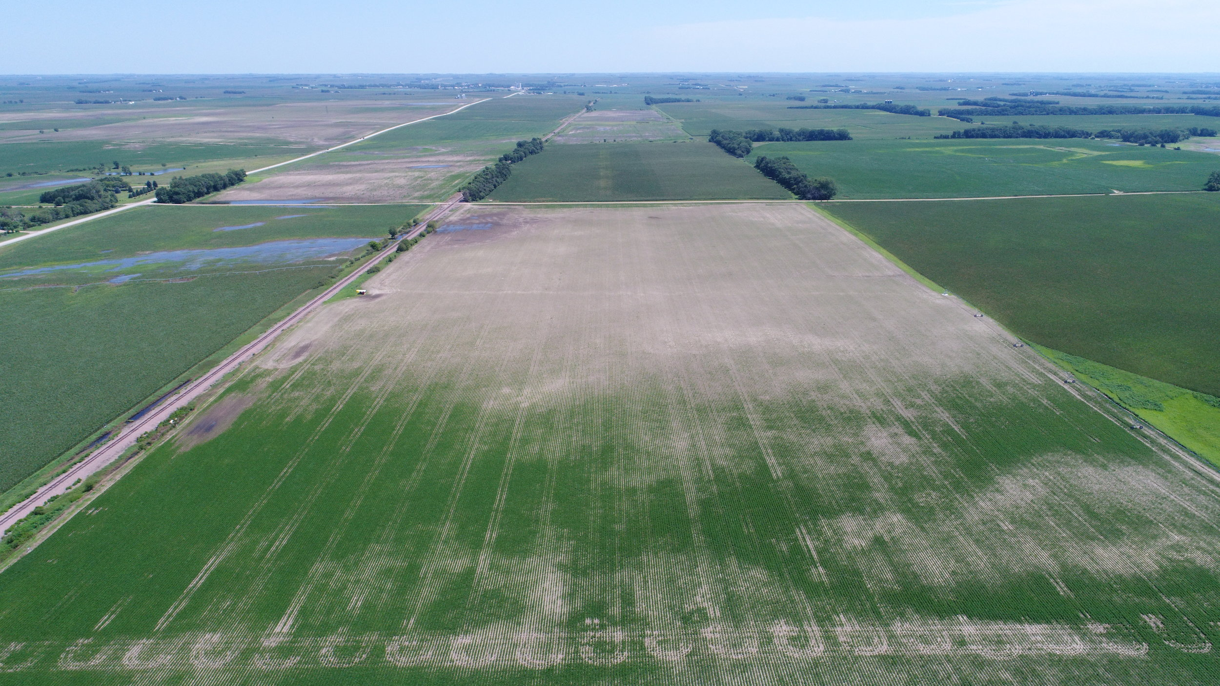 This insured's half section caught the edge of the June 30, 2018 storm that hit west of Osmond.