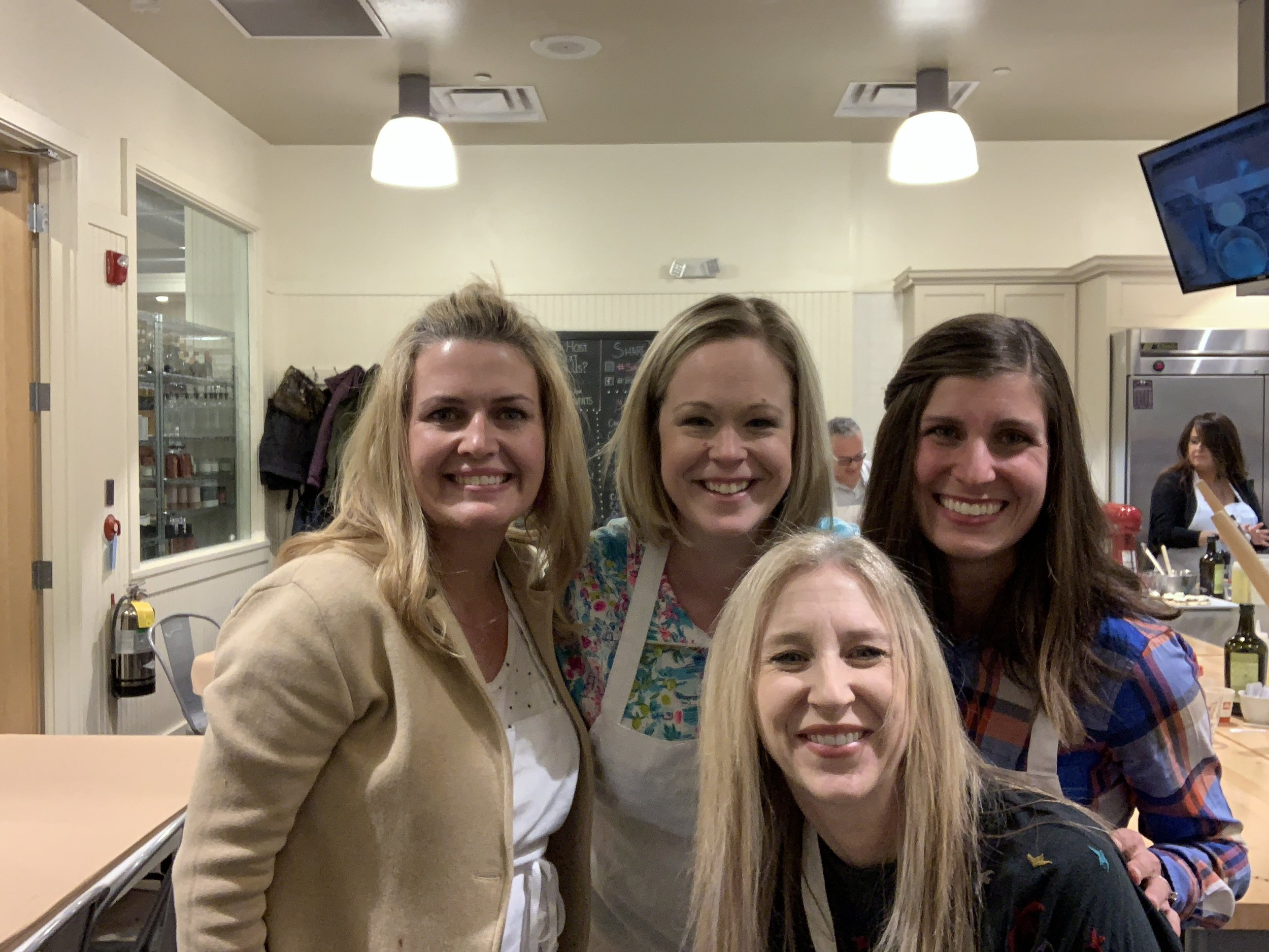 Nicole, Allie, Ginny, and me. We realized tonight that this was our SIXTH year together celebrating our favorite things and our favorite people!