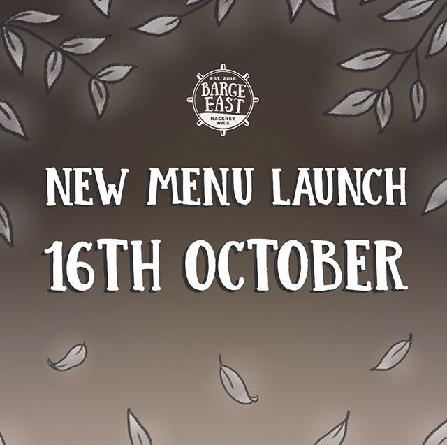⚓️⚓️NEW MENU LAUNCH ⚓️⚓️ We can't wait to show you what our wonderful chefs have been busy creating. You have 3 weeks to get to the boat and try your favourites before the menu change 👀  www.bargeeast.com to book in.