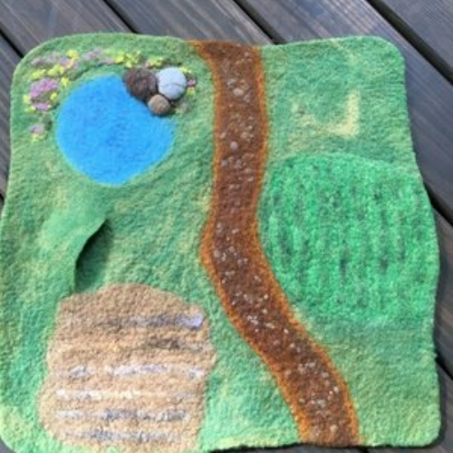 Sheep in a Tree felt playmat