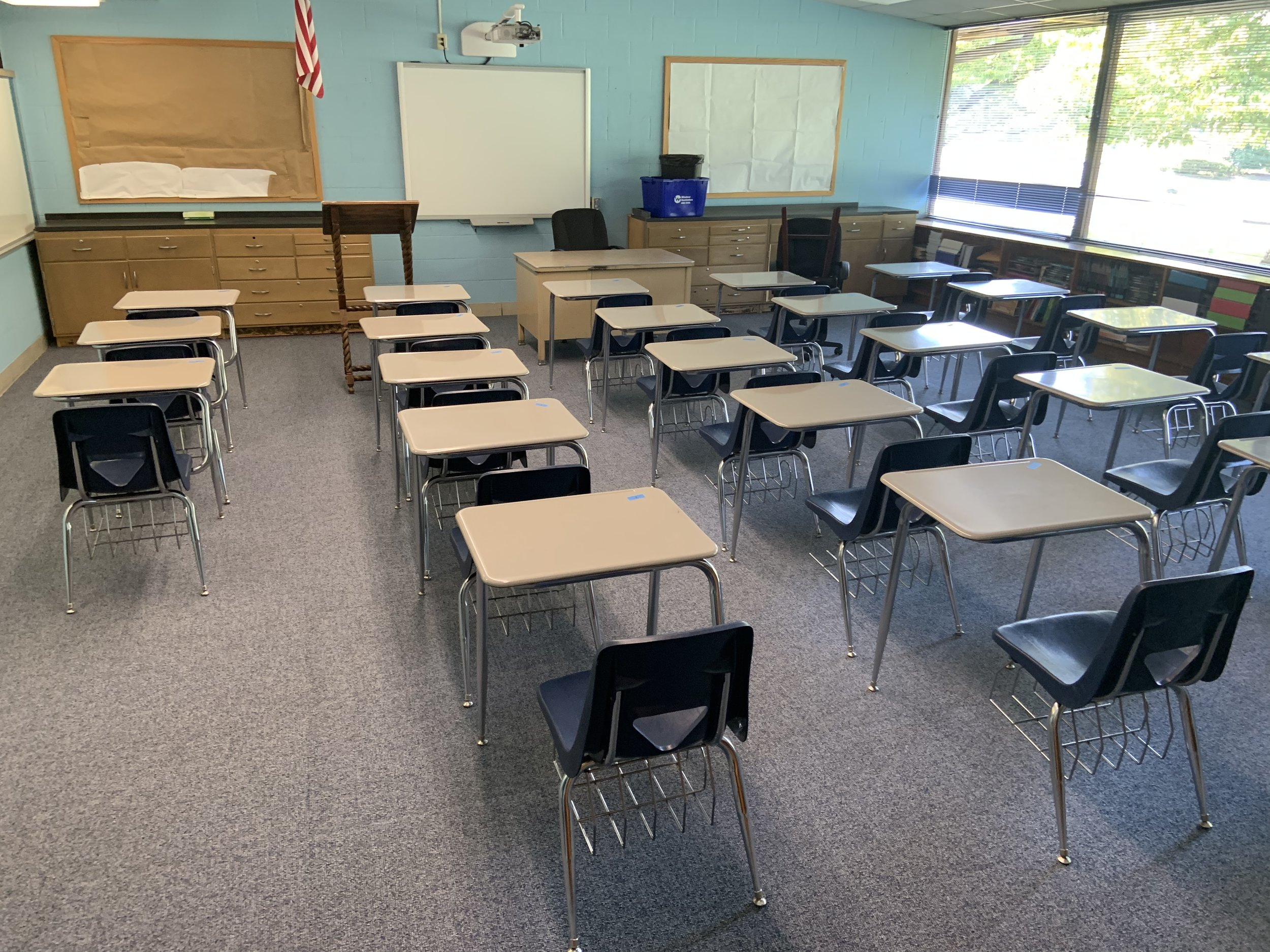 Math classroom: Check!