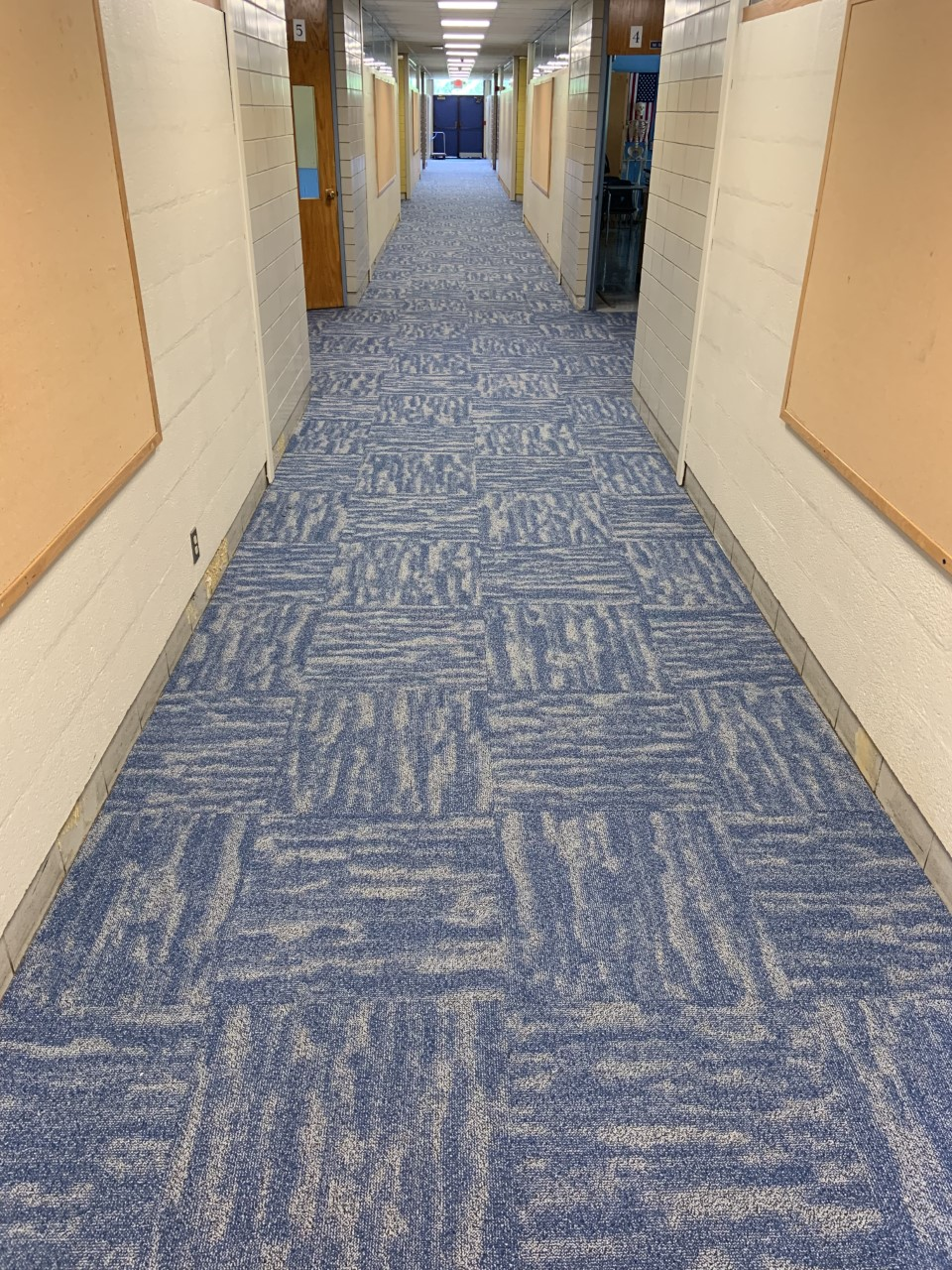 Follow the fresh carpeting to our six instructional spaces on this side of our school!
